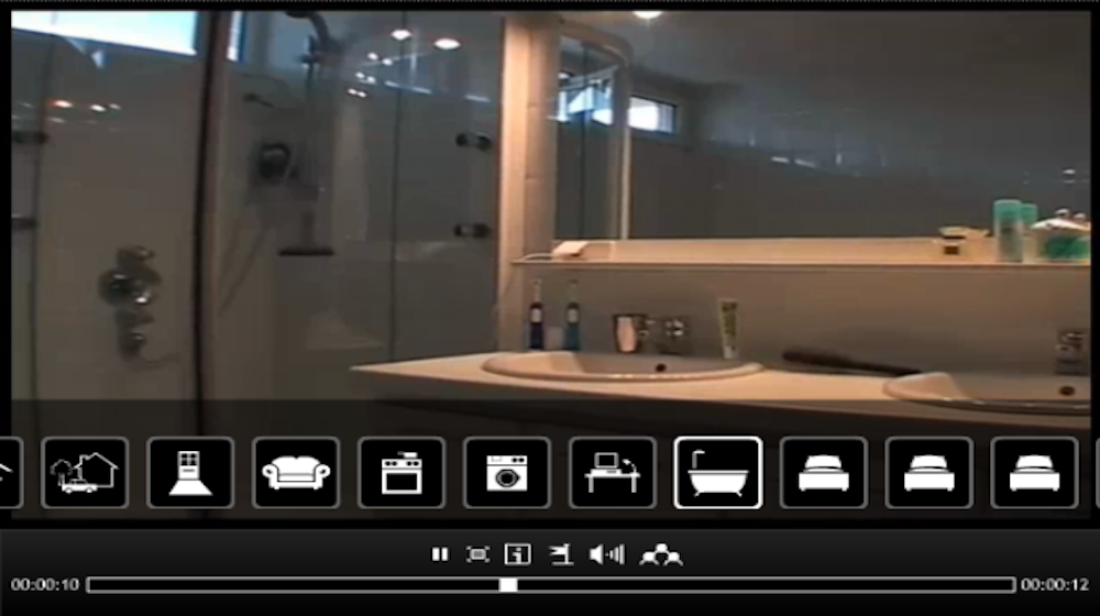 Video with room navigation