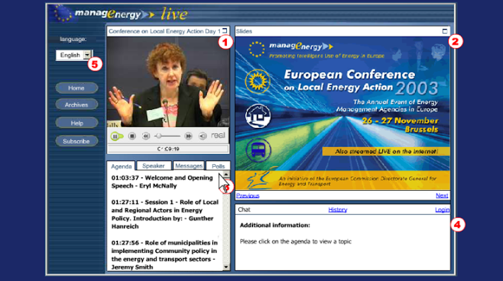 Webcasts on sustainable energy