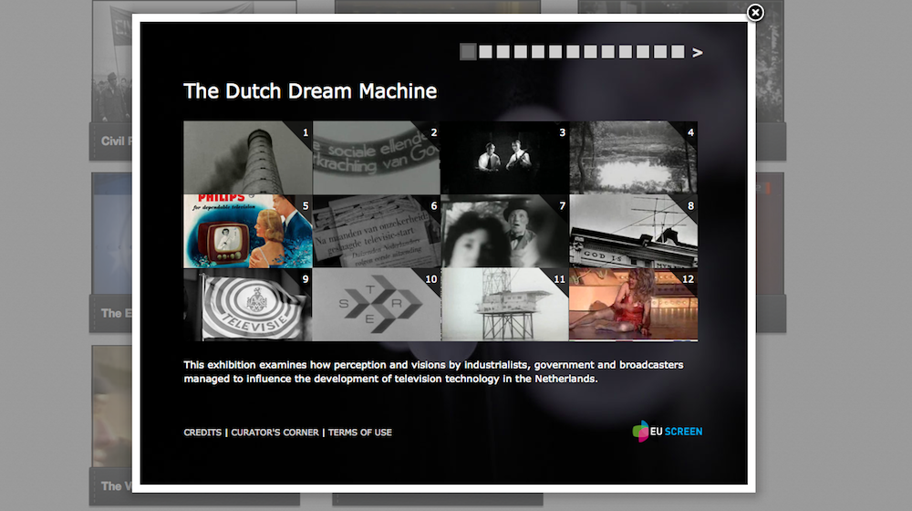 Automatically generated front-page Exhibition