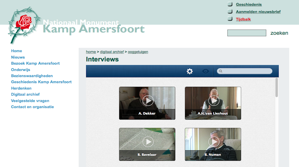 Collectie op Kamp Amerfoort website