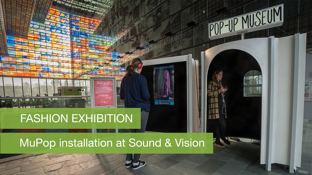 MuPop installation in the entrance hall of Sound and Vision